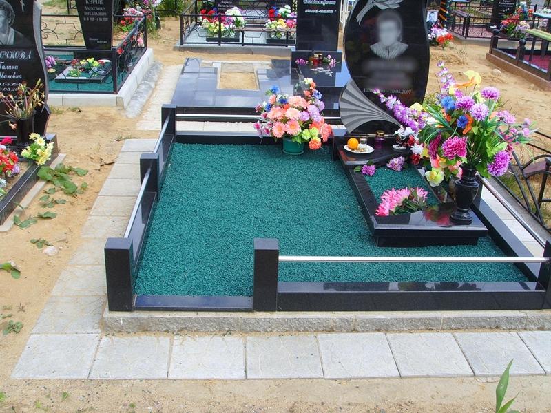 Оформление могилы своими руками фото 360
